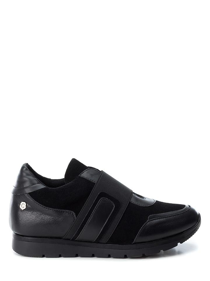 CARMELA Skórzane loafersy w kolorze czarnym