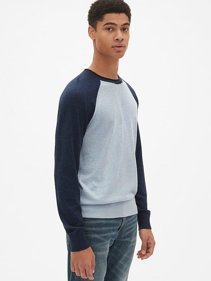 GAP Sweter w kolorze granatowo-białym