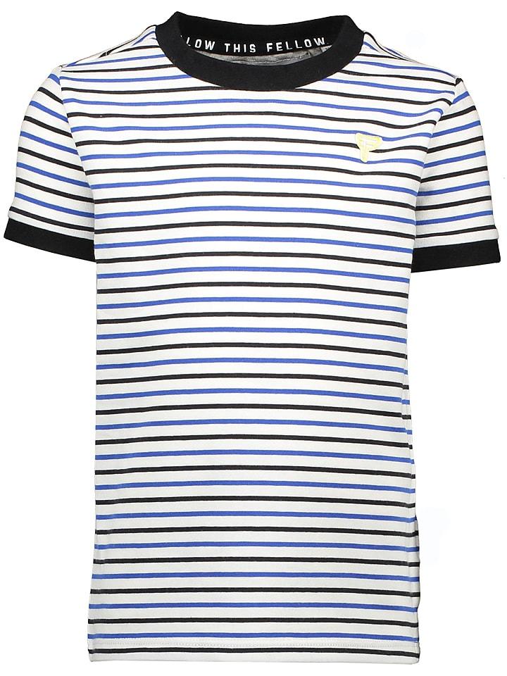 Moodstreet Koszulka w kolorze biało-niebieskim