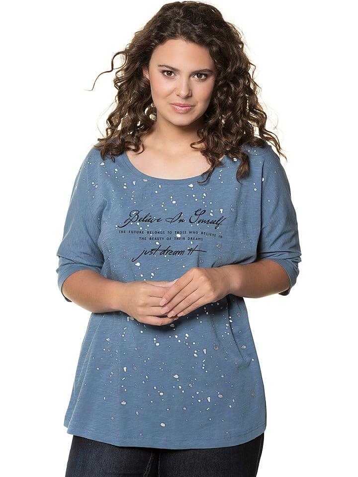 Ulla Popken Koszulka w kolorze niebieskim