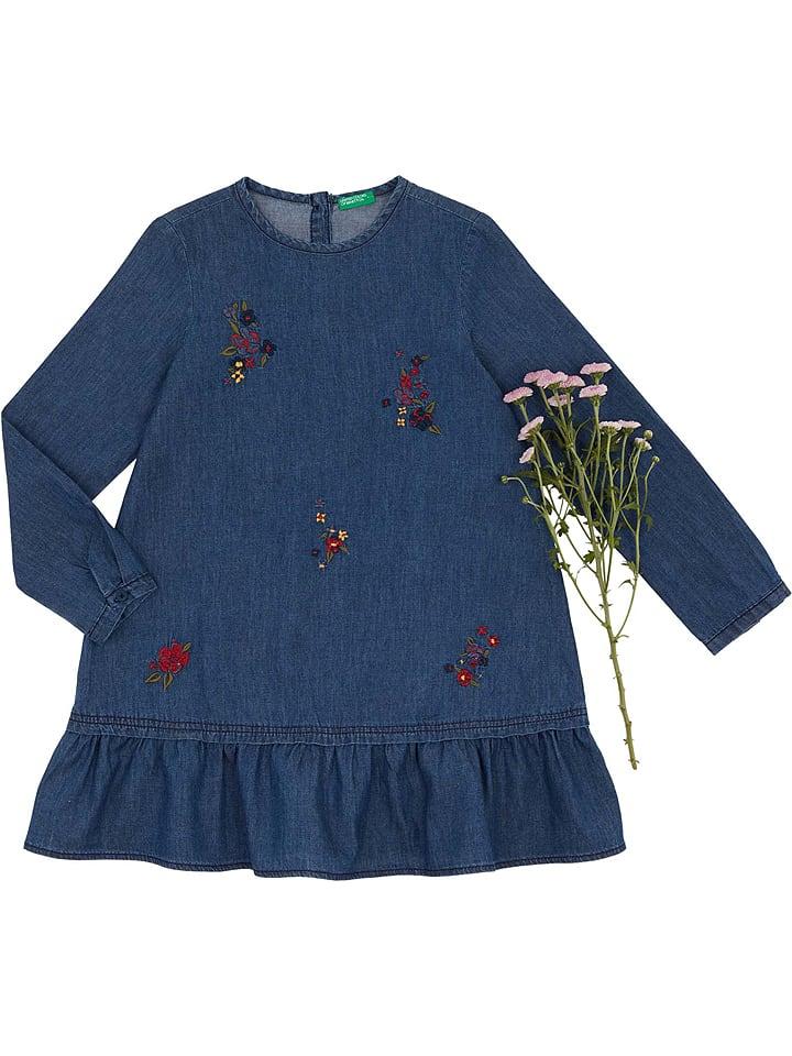 Benetton Sukienka w kolorze niebieskim