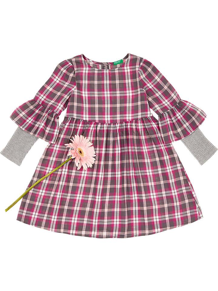 Benetton Sukienka w kolorze różowo-szarym