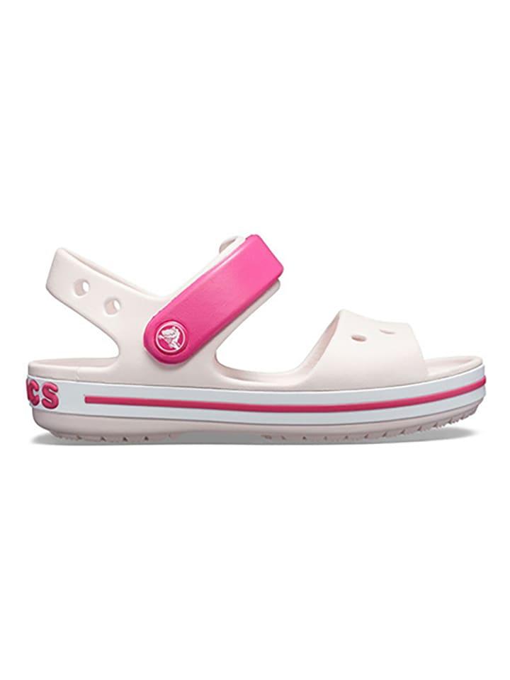 """Crocs Sandały """"Crocband"""" w kolorze białym"""