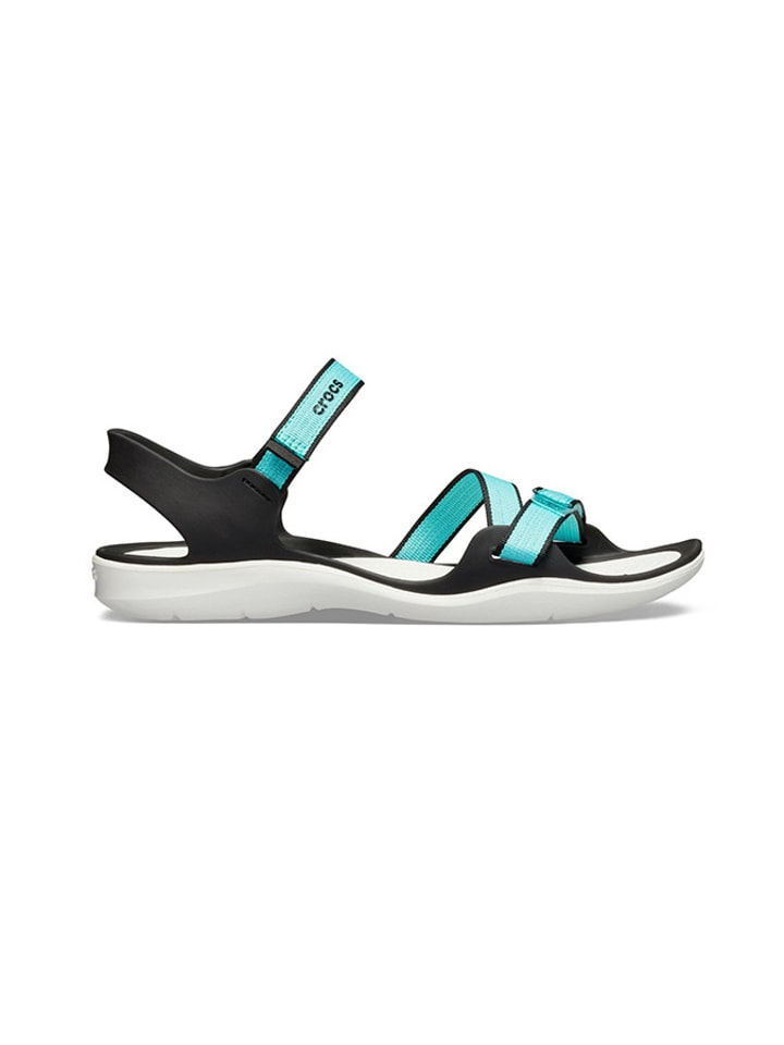 """Crocs Sandały """"Swiftwater"""" w kolorze czarnym"""