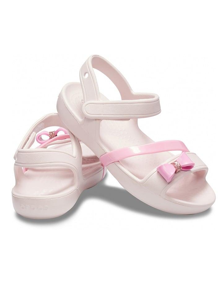 """Crocs Sandały """"Lina Charm"""" w kolorze jasnoróżowym"""