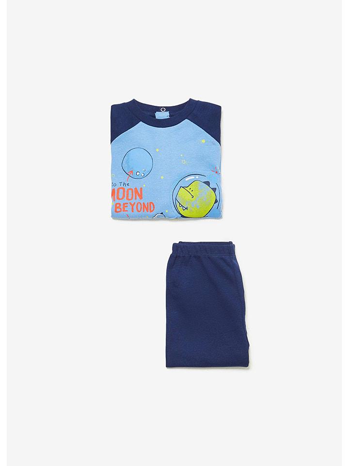 OVS Piżama w kolorze błękitno-granatowym