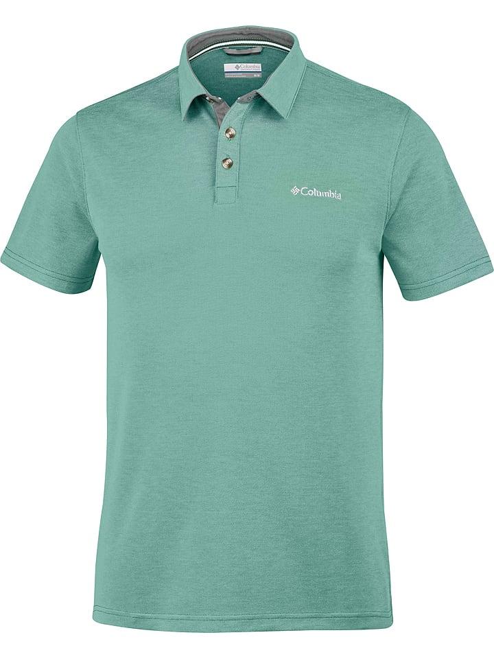 """Columbia Koszulka polo """"Nelson"""" w kolorze zielonym"""