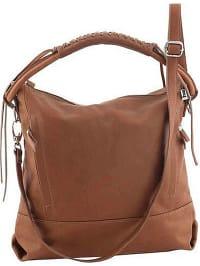 b0e39d0aa5391 75% *. Classe Regina. Skórzana torebka w kolorze jasnobrązowym - 32 x 35 x  10 cm
