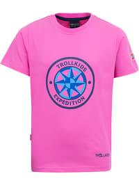 Trollkids Funktionsshirt ´´Windrose´´ in Pink | 65% Rabatt | Größe 104 | Baby shirts | 04260400524322