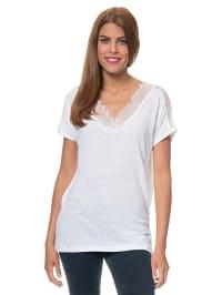 Blue Seven Leinen-Shirt in Weiß | 63% Rabatt | Größe 40 | Damen tops | 04055851643582