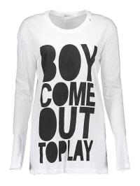 Replay Longsleeve in Weiß   65% Rabatt   Größe L   Damen outdoor tops shirts   08054959811264