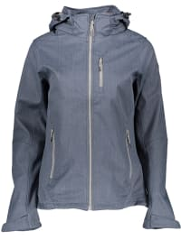 Killtec Softshelljacke ´´Jennifer´´ in Blaugrau | 61% Rabatt | Größe 36 | Damen outdoorjacken | 04056542602420