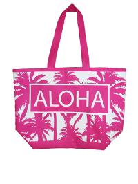 Le Comptoir de la Plage Strandtasche ´´Texty´´ in Pink (B)35 x (H)58 x (T)23 cm | 49% Rabatt | Damen taschen | 06900491180028