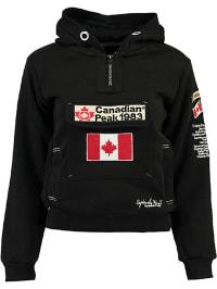 Canadian Peak Kapuzenpullover ´´Galapagos´´ in Schwarz | 53% Rabatt | Größe 176 | Kinderpullover strick | 03664138112317