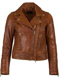 bruin leren jassen dames kopen