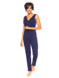 Saint Germain Paris Jumpsuit ´´Severine´´ in Dunkelblau | 75% Rabatt | Größe L | Damenhosen | 07525193230049