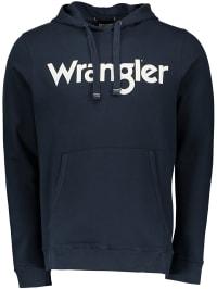 Wrangler Kapuzenpullover in Dunkelblau | 52% Rabatt | Größe XXL | Herren pullover strick | 05400552540804