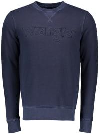 Wrangler Sweatshirt in Dunkelblau | 64% Rabatt | Größe S | Herren pullover sport | 05400552541283
