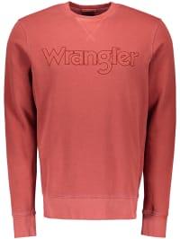 Wrangler Sweatshirt in Rot | 64% Rabatt | Größe XXL | Herren pullover sport | 05400552541207