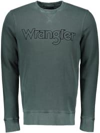 Wrangler Sweatshirt in Oliv | 64% Rabatt | Größe S | Herren pullover sport | 05400552541238