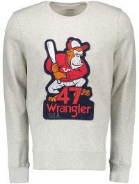 Wrangler Sweatshirt in Creme | 67% Rabatt | Größe XXL | Herren pullover sport | 05400597354077