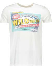 Wrangler Shirt in Weiß   70% Rabatt   Größe L   Herrenshirts   05400552544369