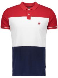 Wrangler Poloshirt in Rot   68% Rabatt   Größe S   Herrenshirts   05400597355951