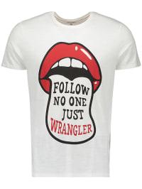 Wrangler Shirt in Weiß | 70% Rabatt | Größe XXL | Herrenshirts | 05400597357221