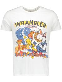 Wrangler Shirt in Weiß | 68% Rabatt | Größe M | Herrenshirts | 05400597357795