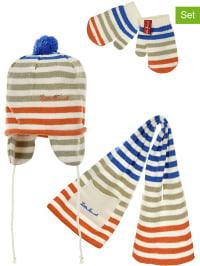 Little Marcel 3tlg. Set: Mütze, Schal und Fäustlinge in Blau | 64% Rabatt | Größe 92/98 | Kindermuetzen | 03609082908739