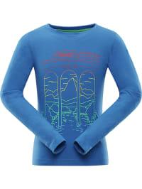 Alpine Pro Funktionsshirt ´´Didilo´´ in Blau | 80% Rabatt | Größe 116/122 | Kinder oberteile | 08592645737134
