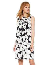 15668adab5 65%  . Deni Cler. Sukienka w kolorze biało-czarnym