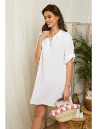 39723a505ab 76%  . Lin Passion. Leinen-Kleid in Weiß