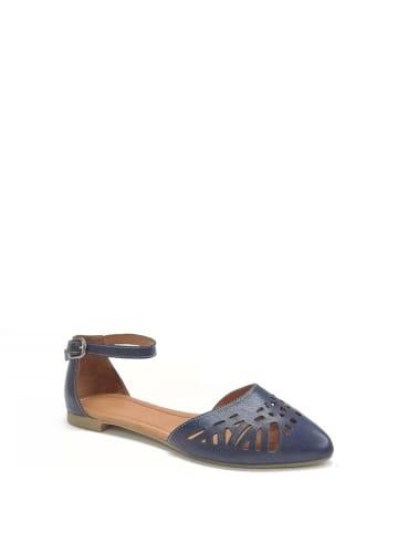 Enisse Leder Schnürschuhe in Hellblau günstig kaufen | limango