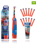 """14tlg. Set: """"Oral B Stages Power - Cars"""" in Blau/ Rot"""