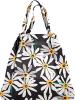 Einkaufstasche in Schwarz/ Weiß - (B)64 x (H)48 x (T)13 cm