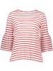Shirt in Weiß/ Rot