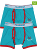2-delige set: boxershorts lichtblauw/rood
