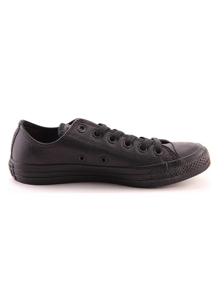 "Converse Skórzane sneakersy ""All Star Ox"" w kolorze czarnym"