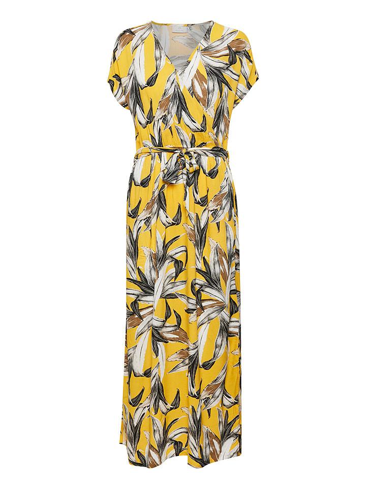 """Kaffe Sukienka """"Elysse"""" w kolorze żółtym"""