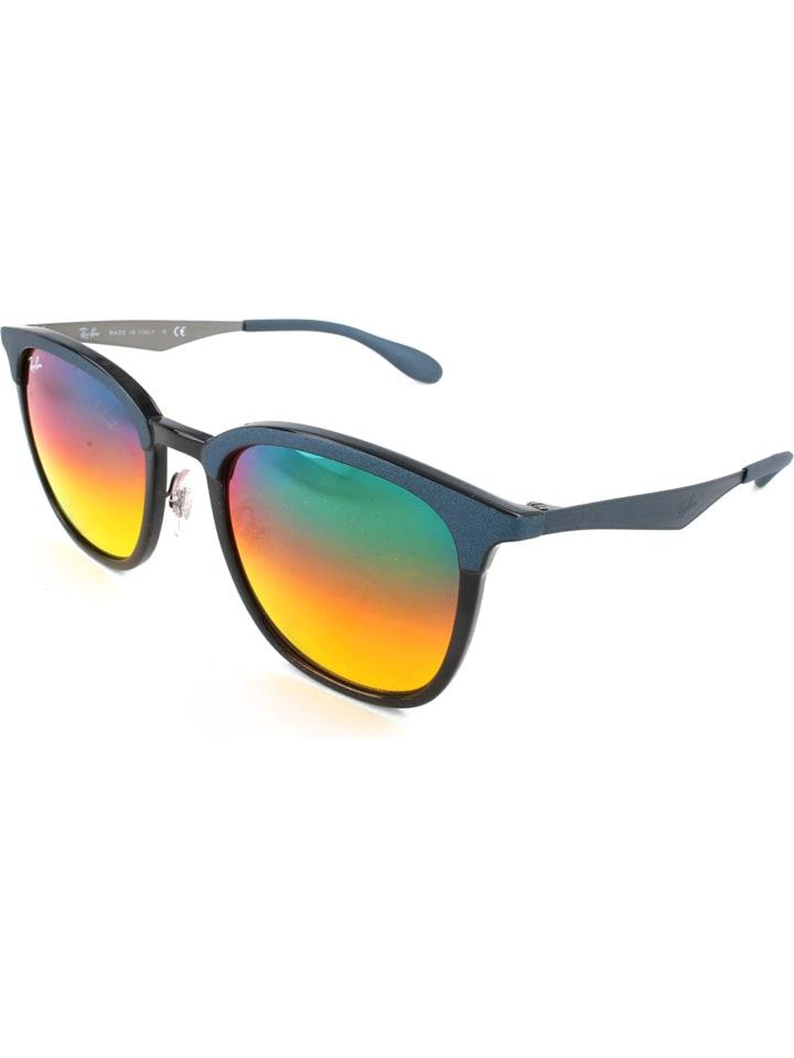 Ray Ban Damen-Sonnenbrille in Dunkelblau/ Bunt