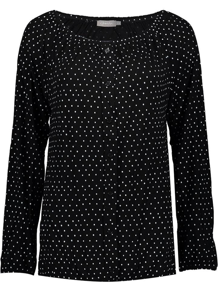 Geisha Shirt wit/zwart