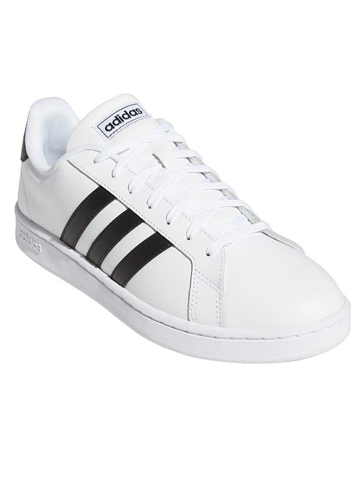"""Adidas Sneakersy """"Grand Court"""" w kolorze białym"""