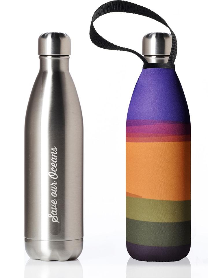 "Butelka ""Basslet Feather"" w kolorze srebrnym ze wzorem - 750 ml"