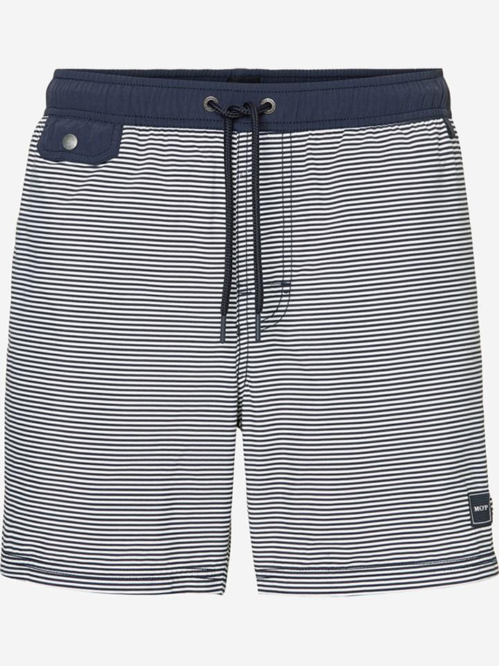 Marc O´Polo Beachwear Zwemshort donkerblauw/wit