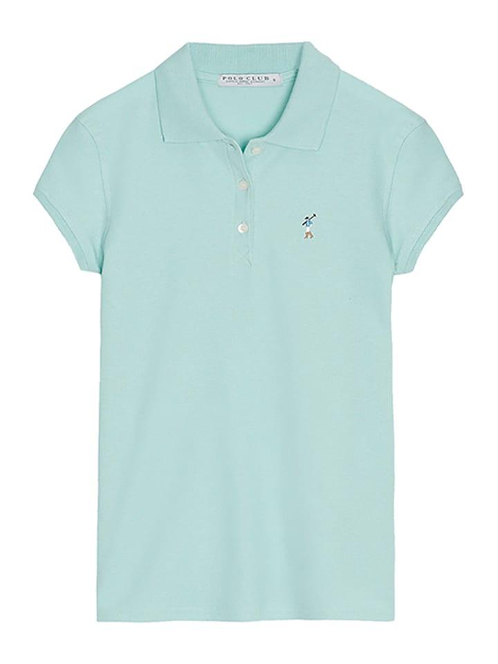 Polo Club Koszulka polo w kolorze turkusowym
