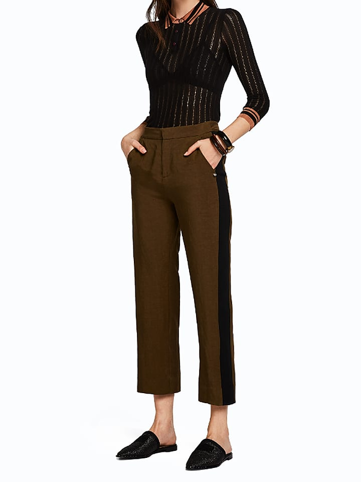 Scotch & Soda Spodnie w kolorze ciemnobrązowym