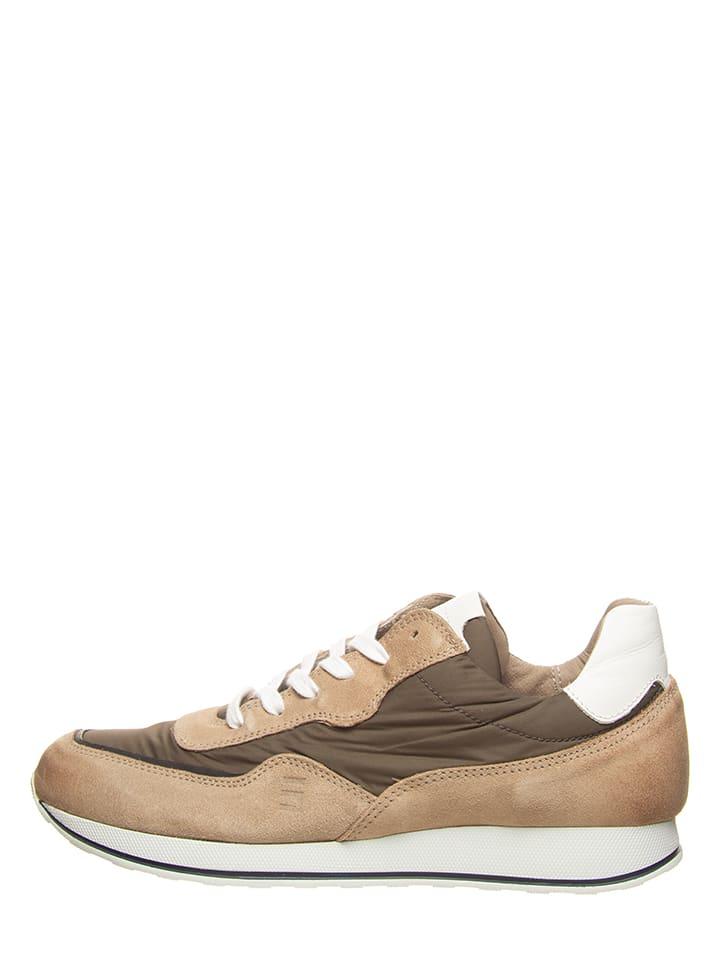 Cinque Sneakers beige/olijfgroen