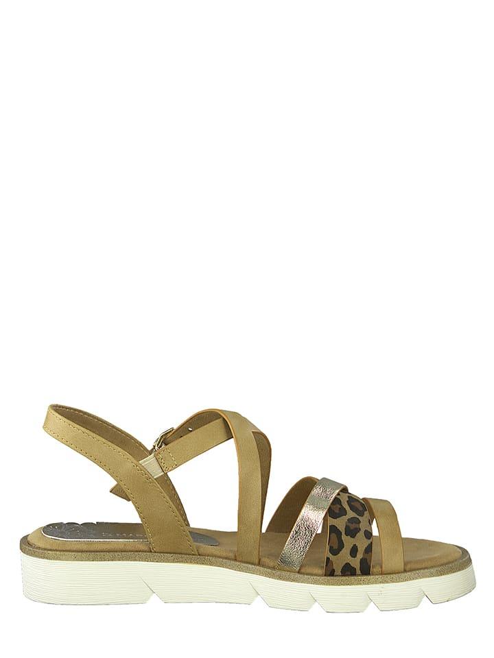 Marco Tozzi Sandalen beige/goudkleurig