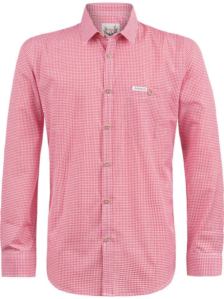 """Stockerpoint Trachtenhemd """"Dave"""" in Rot/ Weiß"""